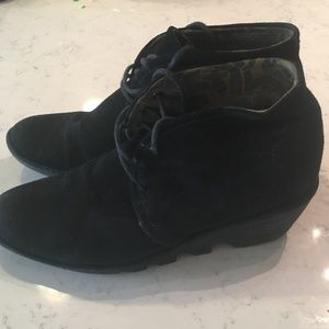Ladies FLY London Suede Lace-up Ankle Boots  (10)